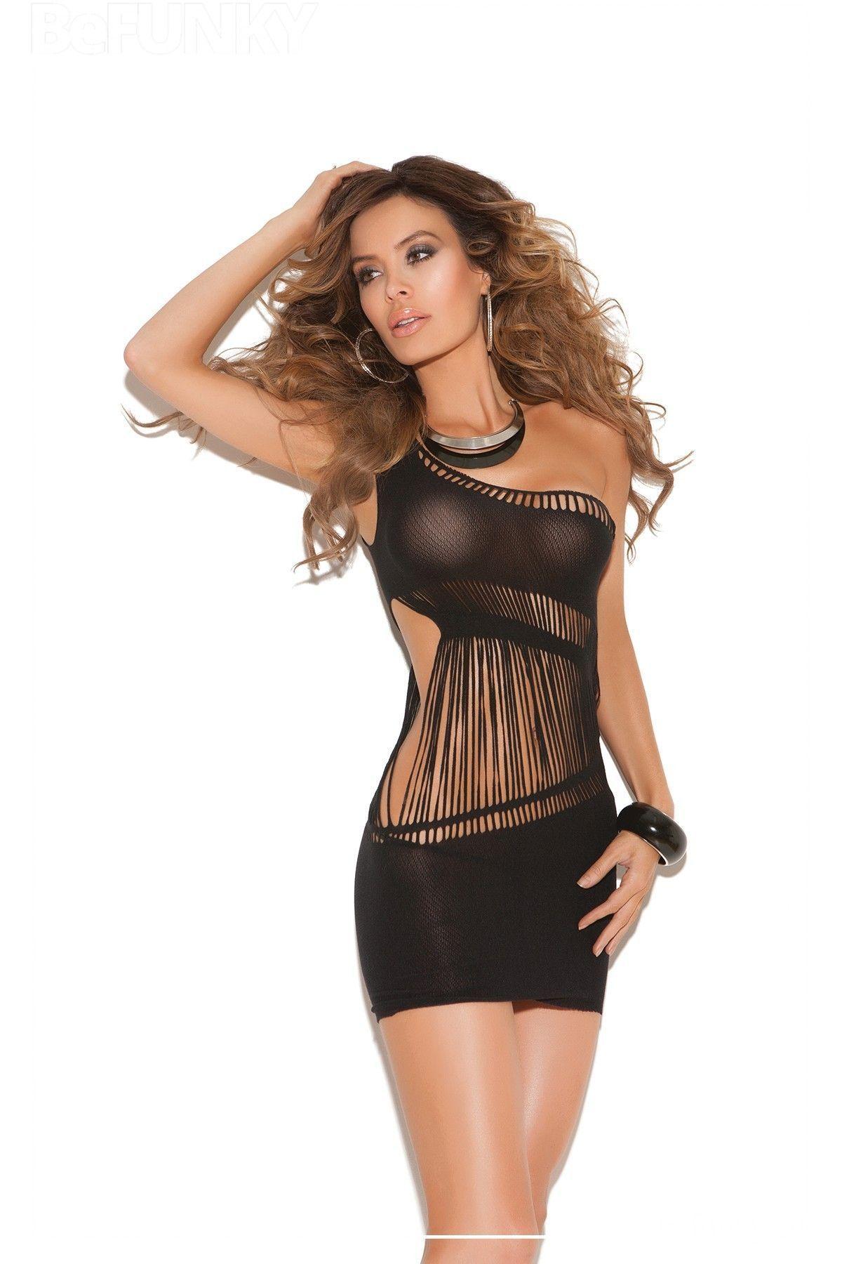 Mini vestido opaco con un solo hombro