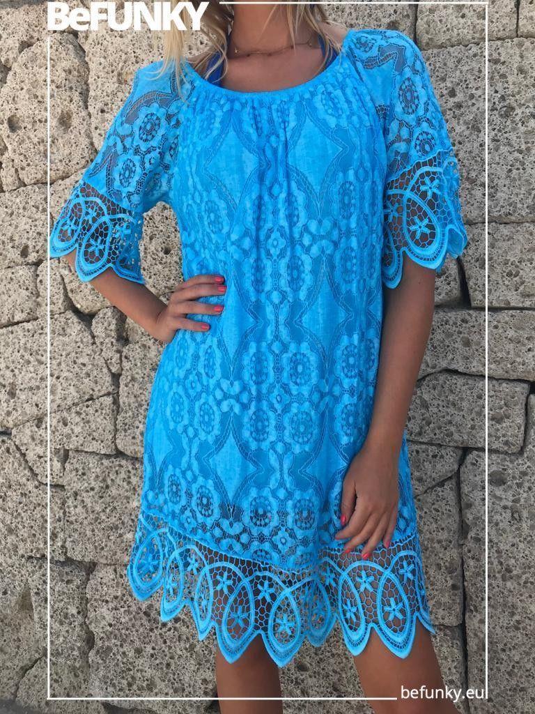 Vestido Croche Mangas