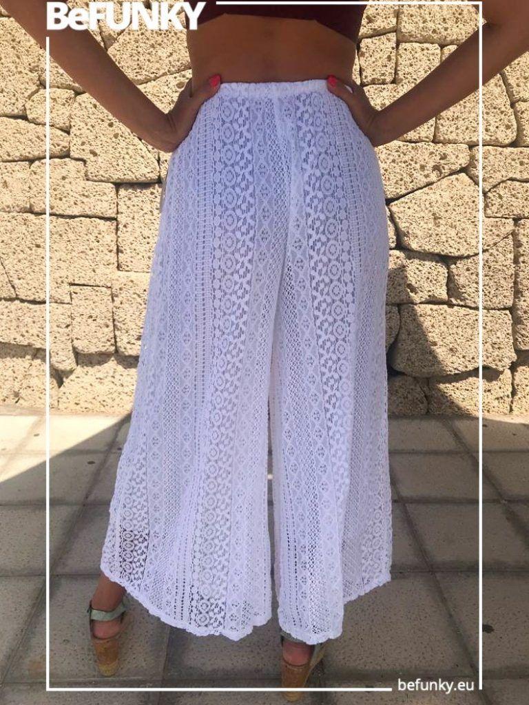 Long Crochet Trousers